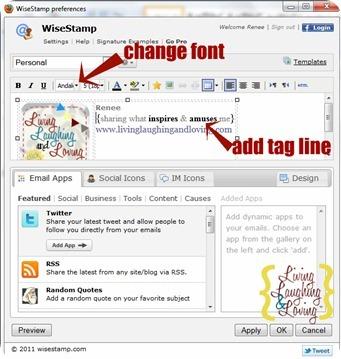 change font add tagline 2