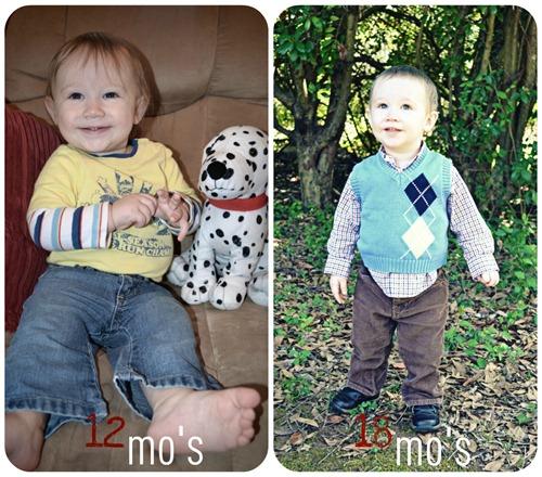 davis collage 12 to 18 mos
