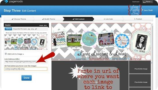 Paste url to link pics