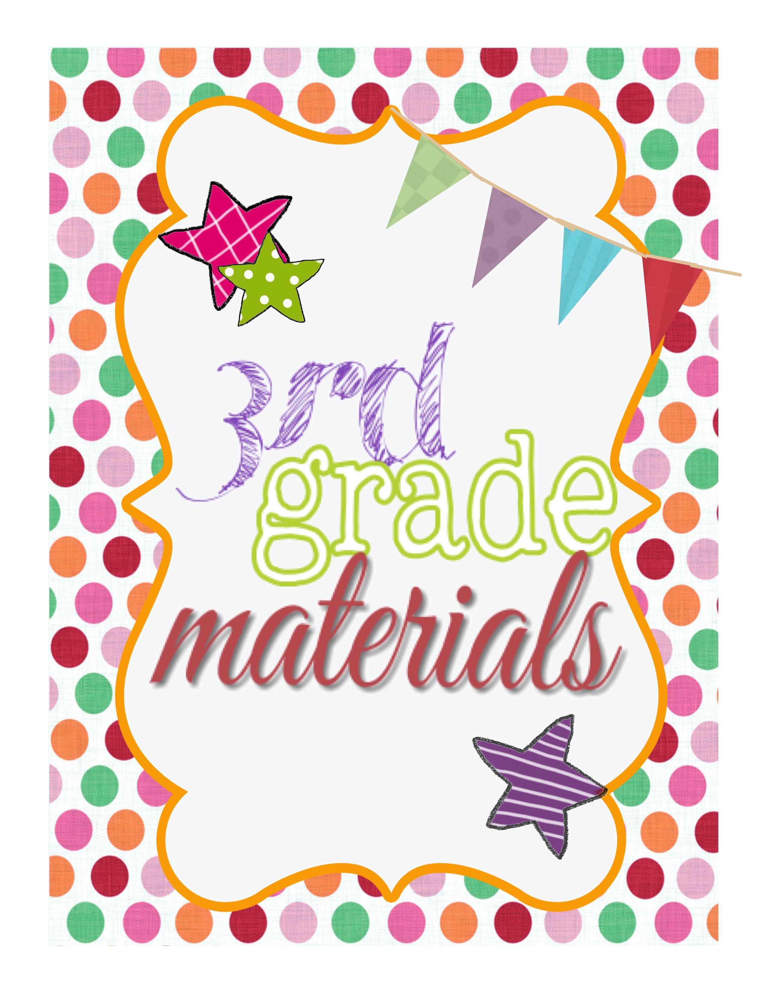 Cute School Binder Covers 3rd grade binder cover