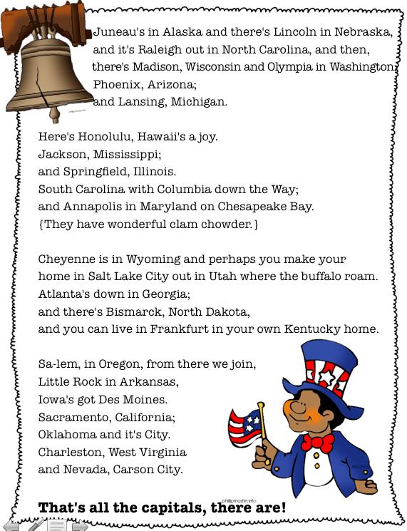 U S States Capitals
